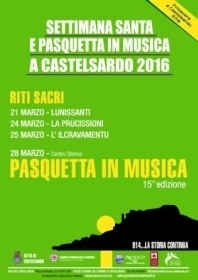 SETTIMANA SANTA E PASQUETTA IN MUSICA A CASTELSARDO 2016