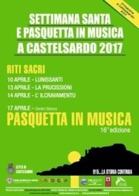 SETTIMANA SANTA E PASQUETTA IN MUSICA A CASTELSARDO 2017