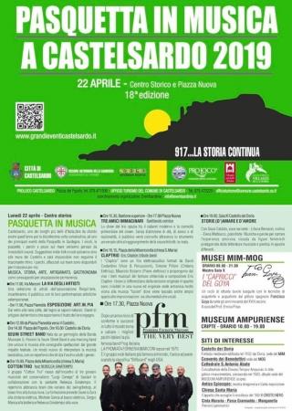 Pasquetta in musica a Castelsardo 2019 - 18^ edizione
